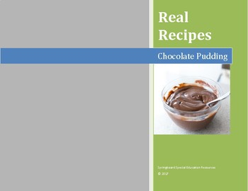Real Recipes: Chocolate Pudding