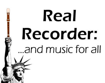 Real Recorder 2.0 Digital Package for Teachers