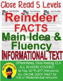 Real Reindeer FACTS CLOSE READING 5 LEVEL PASSAGES Main Idea Fluency Check TDQs