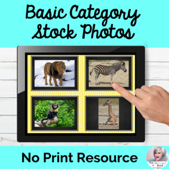 Real Stock Photos for Teletherapy NO PRINT Digital Early Language