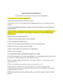 Real Teacher Interview Questions-A Collection for K-12 Teacher Candidates