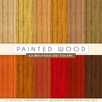 Real Wood Digital Paper, scrapbook backgrounds