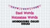 Real Word Nonsense Word Editable Word Sort