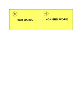 Real Words vs Nonsense Words- August