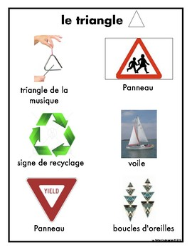 Real World 2-D Shapes Posters in French