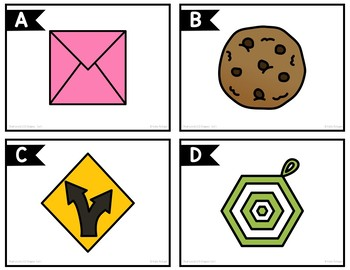 Real World 2-D Shapes Task Cards