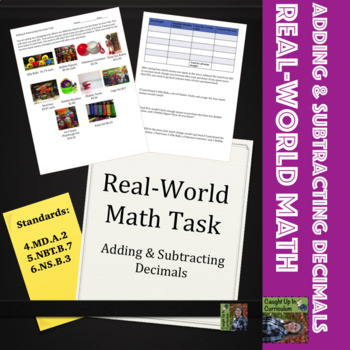 Real World Adding & Subtracting Decimals Task