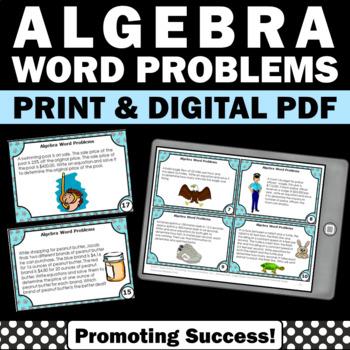 Algebraic Expressions Word Problems, Algebraic Equations 6
