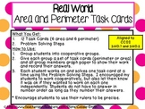 Real World Area and Perimeter Task Cards