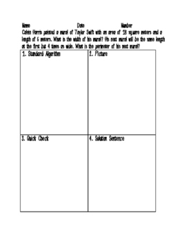 Real World Area and Perimeter Word Problems Printable!