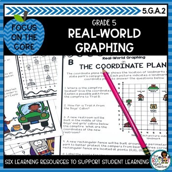 Real-World Coordinate Plane Graphing- Math Center Activity and Printables