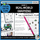 Real-World Coordinate Plane Graphing- Math Center Activity
