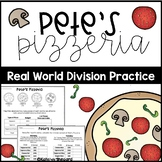 PBL: Project Based Learning Long Division Practice Pizza Place