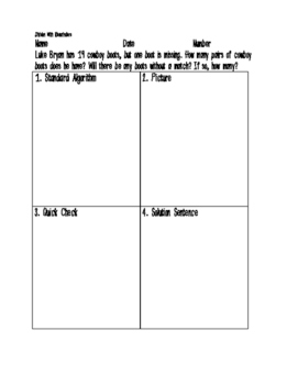Real World Division With Remainders World Problems Printable