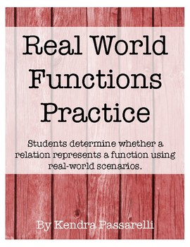 Real World Functions Practice