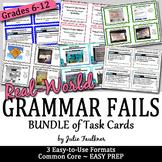 Real-World Grammar Fails Task Cards BUNDLE, FREE UPDATES