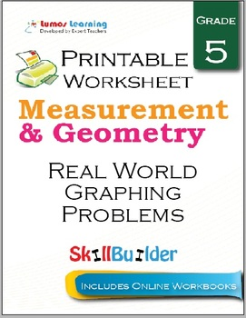 Real World Graphing Problems Printable Worksheet, Grade 5