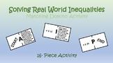 Real World Inequalities Domino Activity