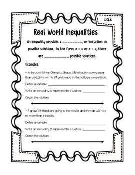 Real World Inequalities Guided Notes
