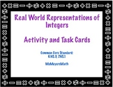 Real World Integer Representation Activity and Task Cards 6.NS.5, 7.NS.1