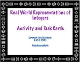Real World Integer Representation Activity, Task Cards and Digital Resource