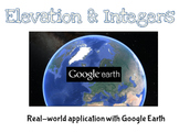 Real World Integers Activity - Including Google Earth Option