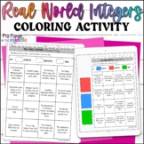 Real World Integers Digital and Printable Coloring Activity