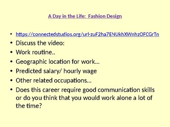 Real World Job Videos with a Lesson built around the job from Connect ED Studios