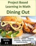 Project Based Learning in Math Dining Out