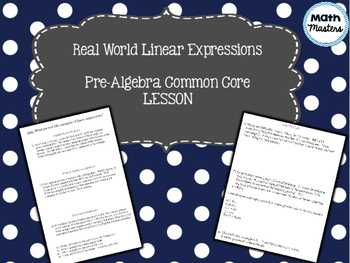 Real World Linear Expressions