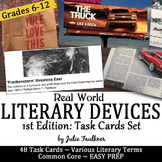 Literary Terms Real World Examples, Bell Ringers Task Card