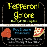 Real World Mass & Capacity Learning Game - Pepperoni Galore - 3rd Grade Math