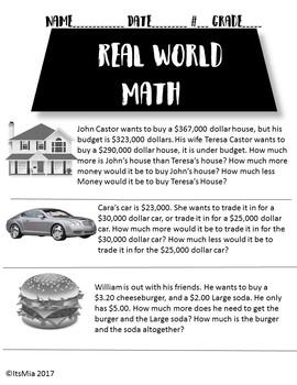 Real World Math- #1