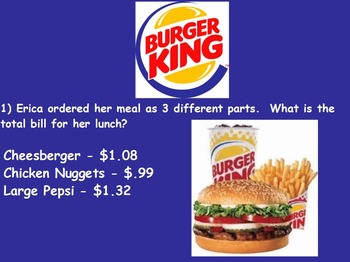 Real World Math (POWERPOINT) - Burger King CBI; Life Skills Math