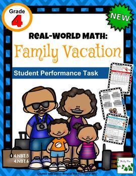 Real-World Math: Family Vacation - Grade 4 (NBT.5, NBT.6)