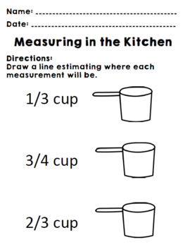 Life Skills Real World Math: Measuring Cups, Recipes and Cooking. Unit One