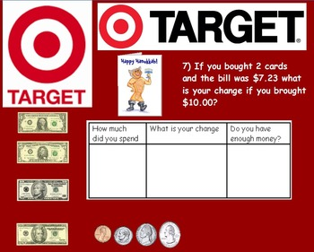 Real World Math (POWERPOINT) - Target Gift Card CBI; Life Skills