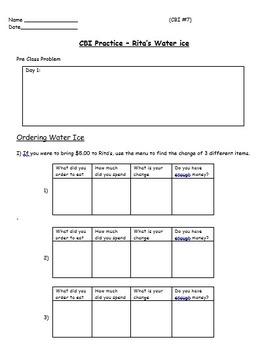 Real World Math (POWERPOINT) - Water Ice CBI; Life Skills Math