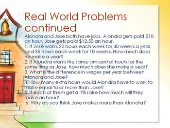 Real World Math Problems