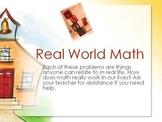 Real World Math Problems