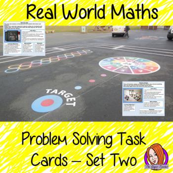 Real World Math Problems Task Cards Set 2