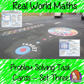Real World Maths Problem Solving Task Cards Set 3