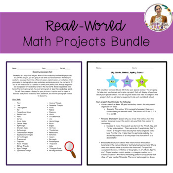 Real-World Math Projects Bundle