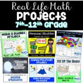 Real Life Math Project Based Learning PBL - Bundle