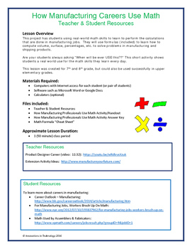 Real World Math Skills - How Math is Used in Manufacturing Careers