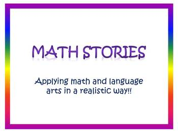 Real World Math Stories Packet