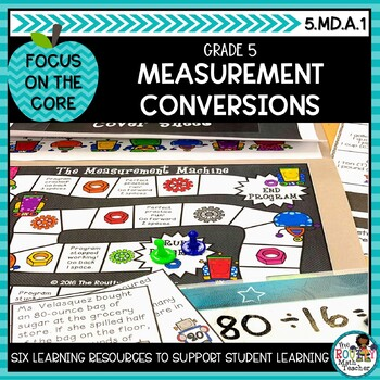 Real-World Measurement Conversions- Math Center Activity and Printables Pack