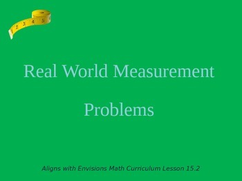 Real World Measurement Problems