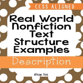 Real World Nonfiction Text Structure Examples - Descriptio