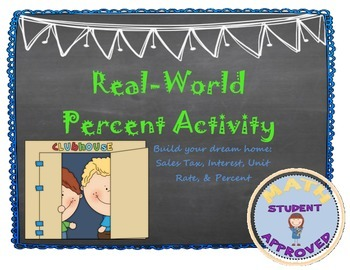 Real-World Percent Activity:Sales Tax, Percent, Interest, Unit Rate